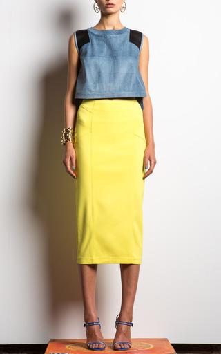 Cotton Scuba Pencil Skirt by VERONICA BEARD for Preorder on Moda Operandi