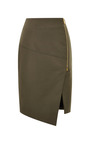 Compact Stretch Cotton Zip Front Pencil Skirt by VERONICA BEARD for Preorder on Moda Operandi