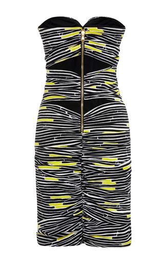 Traffic Stripe Silk Strapless Dress by VERONICA BEARD for Preorder on Moda Operandi