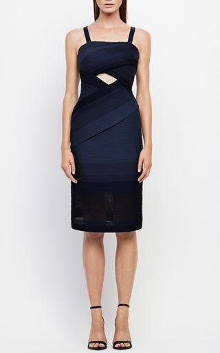 Cross Stripe Jersey Dress by JONATHAN SIMKHAI for Preorder on Moda Operandi