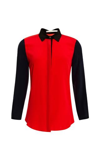 Medium jonathan simkhai red colorblock mod blouse