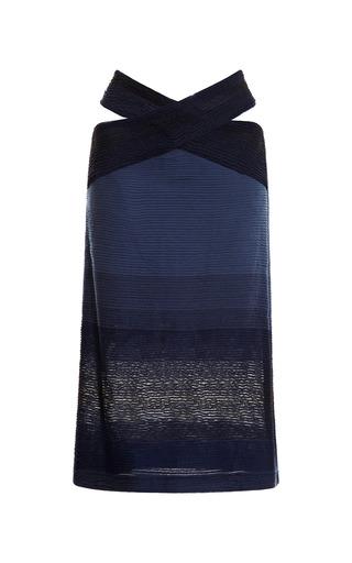 Medium jonathan simkhai blue cross stripe jersey skirt 2