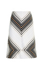 A Line Chase Stripe Skirt by JONATHAN SIMKHAI for Preorder on Moda Operandi