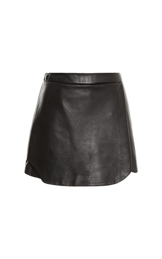 Medium jonathan simkhai black leather skort