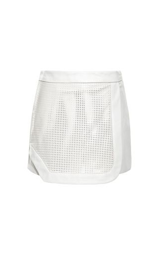 Medium jonathan simkhai white perforated sport skort
