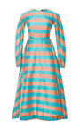 M'o Exclusive: Annie Striped Silk Midi Dress by EMILIA WICKSTEAD Now Available on Moda Operandi
