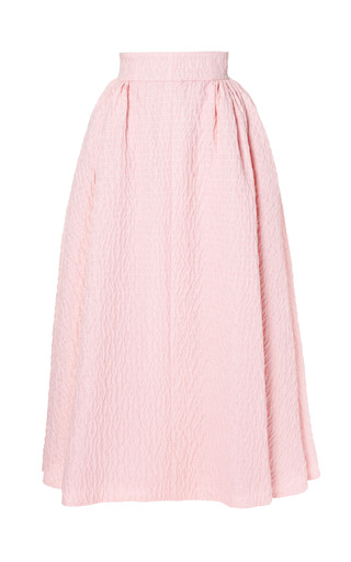 Medium emilia wickstead pink christian matelasse midi skirt