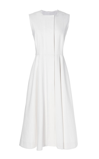 Medium emilia wickstead white madaline heavy denim midi dress