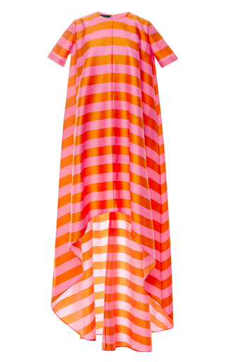 Medium emilia wickstead pink mariee striped cotton blend twill gown