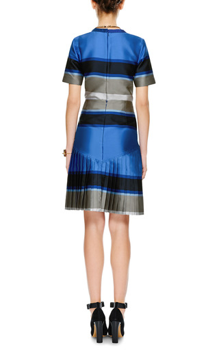 Striped Double Face Pleated Skirt by OSTWALD HELGASON Now Available on Moda Operandi