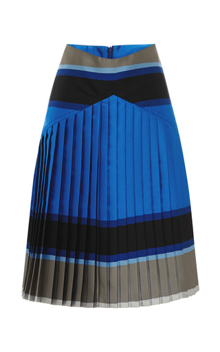 Medium ostwald helgason multi striped double face pleated skirt