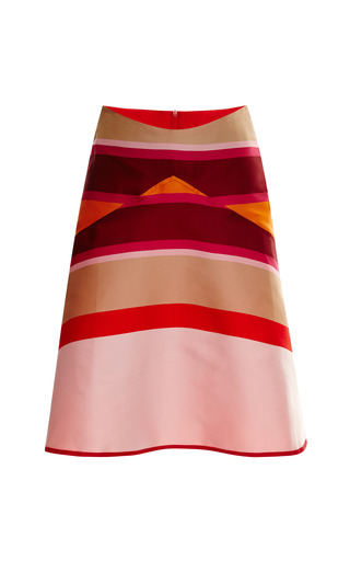 Striped Double Face Flared Skirt by OSTWALD HELGASON Now Available on Moda Operandi