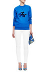 Puppy Love Appliquéd Sweatshirt by OSTWALD HELGASON Now Available on Moda Operandi