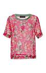 Floral Print Silk Dupioni Top by OSTWALD HELGASON Now Available on Moda Operandi