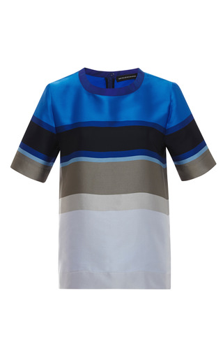 Medium ostwald helgason multi striped double face top