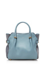 Marche Small Leather And Suede Satchel by NINA RICCI Now Available on Moda Operandi