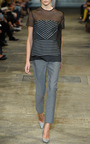 Lurex Stripe Cropped Trousers by RICHARD NICOLL for Preorder on Moda Operandi