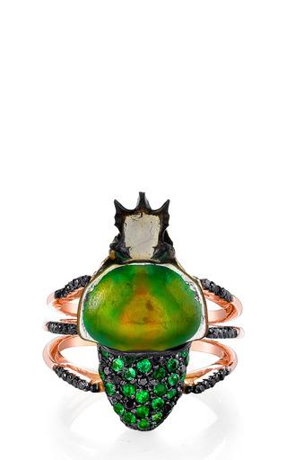 Medium daniela villegas green camouflage ring