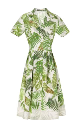 Medium clements ribeiro print gardens fern print carmen shirt dress