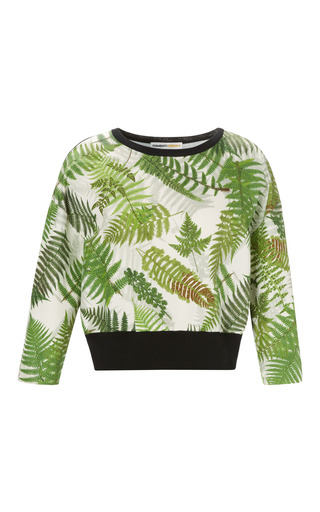 Medium clements ribeiro print amazonas fern print crew neck with knitted back