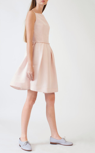 Watteau Pleat Mini Dress by KATIE ERMILIO for Preorder on Moda Operandi