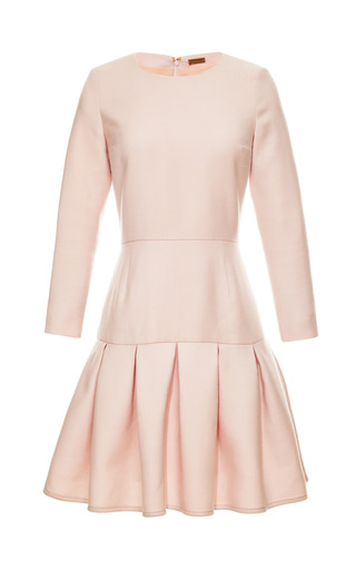 Long Sleeve Box Pleat Sheath Dress by KATIE ERMILIO for Preorder on Moda Operandi