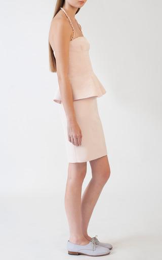Peplum Mini Dress by KATIE ERMILIO for Preorder on Moda Operandi