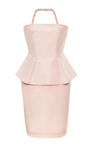 Medium katie ermilio pink peplum mini dress