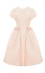 Blush Bow Pocket Party Dress by KATIE ERMILIO for Preorder on Moda Operandi