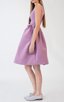 Lilac Bow Pocket Party Dress by KATIE ERMILIO for Preorder on Moda Operandi