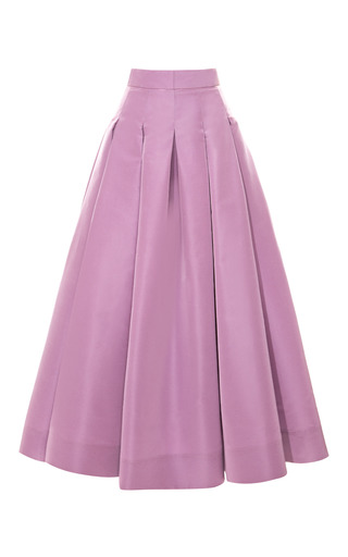 Medium katie ermilio purple box pleat swing skirt