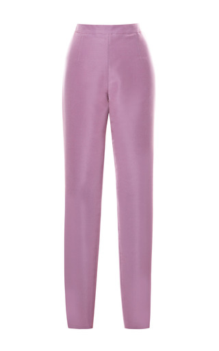 Medium katie ermilio purple faille matchstick pants