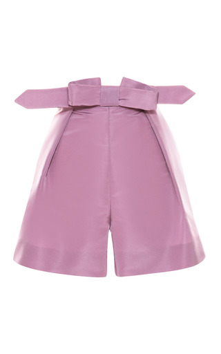 Medium katie ermilio purple tailor bow shorts
