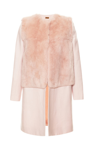 Medium katie ermilio pink fur bodice top coat