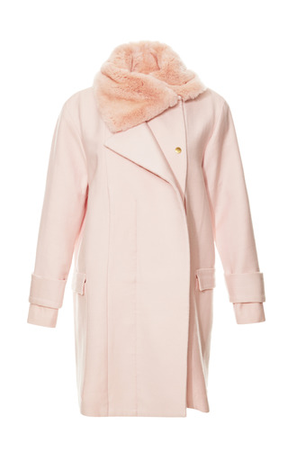 Medium katie ermilio pink spring field coat