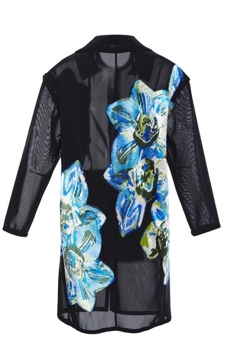 Bennett Floral Applique Car Coat by TANYA TAYLOR for Preorder on Moda Operandi