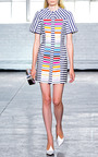 Morgan Rainbow Stripe Dress by TANYA TAYLOR for Preorder on Moda Operandi