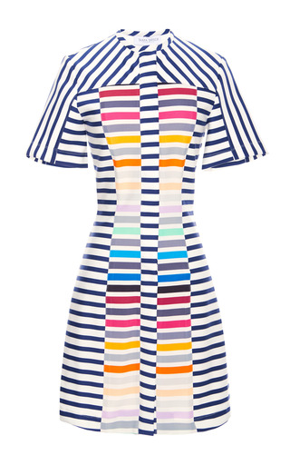 Medium tanya taylor white morgan rainbow stripe dress