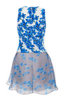 Kylie Gingham Floral Organza Dress by TANYA TAYLOR for Preorder on Moda Operandi