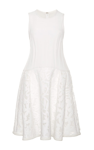 Medium tanya taylor white kylie floral mesh dress