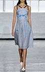 Emily Gingham Floral Organza Dress by TANYA TAYLOR for Preorder on Moda Operandi