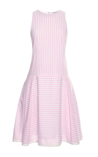 Medium tanya taylor white matilda stripe cotton dress