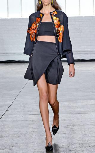 Lulu Floral Applique Jacket by TANYA TAYLOR for Preorder on Moda Operandi