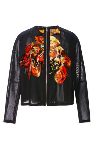 Medium tanya taylor black lulu floral applique jacket