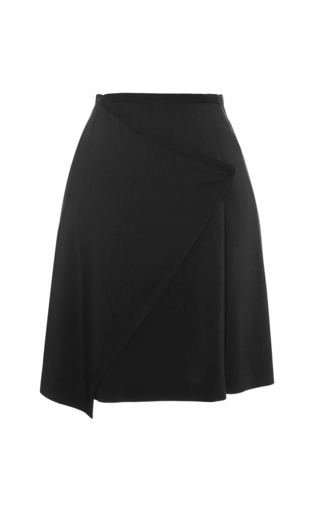 Medium tanya taylor black mackenzie solid stretch skirt
