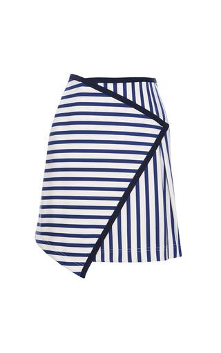 Medium tanya taylor white mackenzie stripe skirt