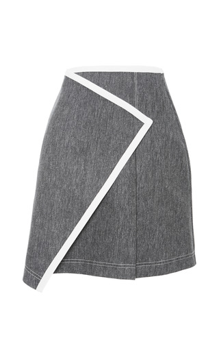 Medium tanya taylor dark grey mackenzie denim skirt