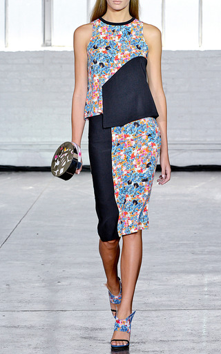 Calla Crazy Floral Tank by TANYA TAYLOR for Preorder on Moda Operandi