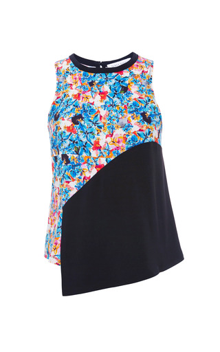 Medium tanya taylor black calla crazy floral tank