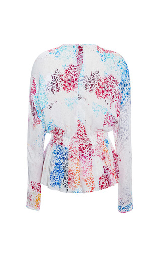 Mulloy Rainbow Scroll Blouse by TANYA TAYLOR for Preorder on Moda Operandi